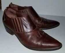 MARKONS brown Leather Western Bootie Boots. 9.5