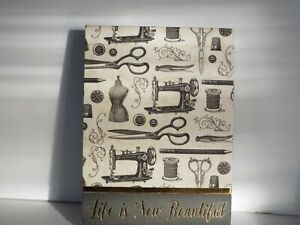 PUNCH STUDIO GOLD FOIL MINI POCKET NOTEPAD LIFE IS SEW BEAUTIFUL