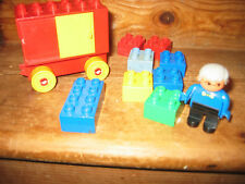 DUPLO LEGO OLD MAN PLAYFIGURE RECYLING BOX WHEEL BASE ASSORT CONSTRUCTION BRICK