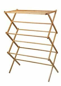 clothes drying rack Bamboo Wooden clothes rack heavy duty cloth drying stand