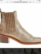 PENELOPE CHILVERS GOLD METALLIC STYLISH SALVA LEATHER ANKLE BOOTS FESTIVAL 40
