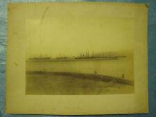 PHOTO VERS 1880 : CANAL DE SUEZ