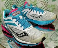 SAUCONY CORTANA 3 BLUE PINK SNEAKERS WALKING RUNNING WORK SHOES US WOMENS SZ 8.5