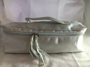 SCHWARZKOPF Cream Satin Zip Around Carry Case Toiletry Travel Bag Pouch Storage