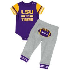LSU Colosseum Infant Football One Piece and Pants Set Size 3-6  Months
