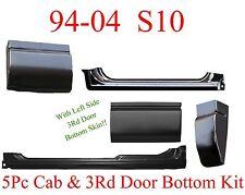 5Pc 94 04 S10 3 Door Rocker & Cab Corner & Door Bottom Repair Kit 5 Pieces L&R