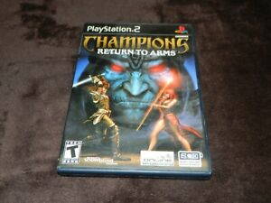 Sony Playstation 2 PS2 Champions Return to Arms Case and Manual ONLY BLACK LABEL