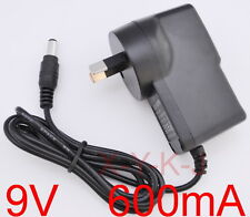 AC 100-240V Converter Adapter DC 9V 600mA 0.6A Power Supply AU 5.5mm x 2.1mm New