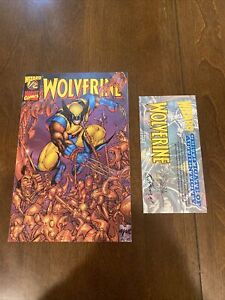 Marvel Wizard Wolverine 1/2 Comic Book Blue Foil Variant Limited Edition COA