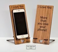 Personalised Valentines Day Gift, Phone Holder