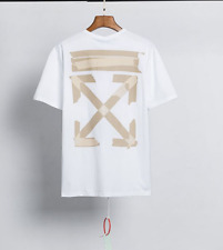 OFF#WHITE OW Alphabet arrow printing Short Sleeve tee Top Unisex casual T-Shirt