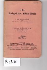 K&E Polyphase Slide Rule Manual, sliderule, VG cond, (P420)