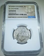 1768 El Cazador Shipwreck Silver 2 Reales NGC Genuine Antique 1700's Pirate Coin