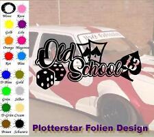 Old School dés cartes Pique nr3 JDM Sticker autocollant Cool Fun Hater Bitch
