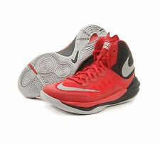 Nike Prime Hype DF II Basketball Shoes Mens  Sz 11   RED- SILVER-BLK  806941 600