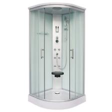 Cabina doccia idromassaggio QUICK-LINE semicircolare ZEPPELIN WHITE 90x90x215 cm