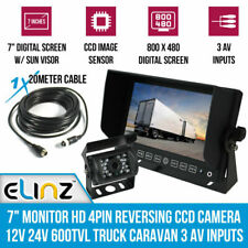"Elinz GEAR7ERV4PIN80010 7"" HD 4 PIN Truck Reversing Camera"