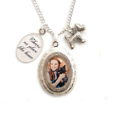 Toto and Dorothy Wizard of Oz necklace locket dog charm No place like home