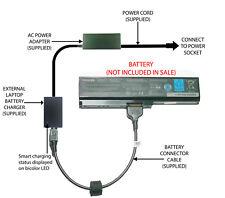 External Laptop Battery Charger for Toshiba L645D L650D L655 L655D L675, PA3817U