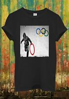 Banksy Anti Olympic Ring Thief Cool Funny Men Women Top Unisex T Shirt 1776