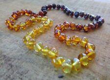 GENUINE BALTIC AMBER ADULT NECKLACE 45cm - RAINBOW - Jewellery Beads + FREE POST