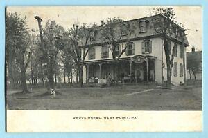 Antique 1909 WEST POINT PA Grove Hotel PRE PRO ADAM SCHEIDT BEER SIGN Montgomery