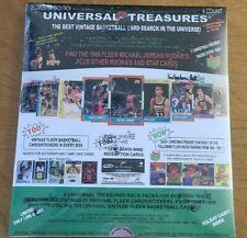 1986 Fleer Universal Treasures HOT BOX: Michael Jordan RC or Sticker 1 in 5