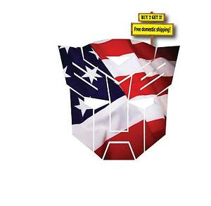Autobot Transformer Badge Wheel Center Flag USA Flag Decal Made in USA FLG23