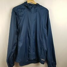 Alpine Design Unisex Jacket Size L Blue Raincoat Packable Camping Windbreaker