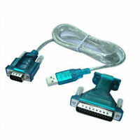 4 Ft USB 2.0 to RS232 Serial DB9 + DB25 Adapter Cable