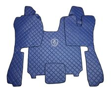 Set RIGHT HAND DRIVE Floor Mats For SCANIA R STREAMLINE 2014+ BLUE Eco Leather.
