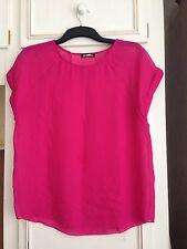 Gráficas para mujer de blusa fucsia rosa Talla 12
