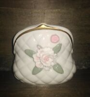 Vintage Small Ceramic Coin Purse Succulent  Planter / Trinket Holder