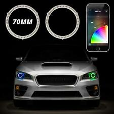 70mm RGB Switchback Halo Kit APP Control Turn Signal DRL Angel Eye Retrofit