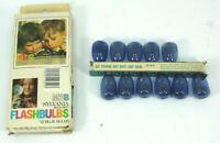 Vtg Sylvania M3B Blue Dot Flashbulbs 11 Bulbs New Old Stock Open Box