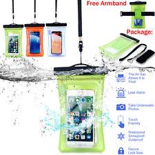 Waterproof Camera Mobile Phone Pouch Dry Bag PVC Case Kayak Boat Fishing Armband