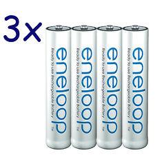 12-Pack Panasonic eneloop AAA Batteries NiMH 800mAh (min. 750mAh) BK-4MCCE