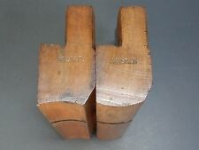 Pair of wooden moulding planes hollow & round no 18 old tools by Martin & Shaw