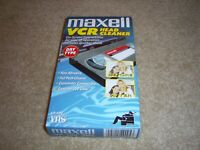 Maxell VP-100 VCR Dry Type VHS Video Head Cleaner TapePre Owned