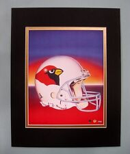 Arizona Cardinals 1995 Matted Football Helmet Lithograph Print by Kelly Russell