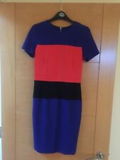 French Connection Orange/blue/black Bodycon Dress Size 10