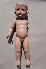 Alte Celluloid Schildkröt Puppe, 56 cm – mit nur einem Arm