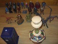 Dr Who Flight Control TARDIS + 10th Console + 21 Action Figures Bundle / Lot