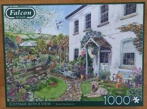 Falcon De Luxe Puzzle * Cottage With A View * 1000 Teile