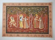 Pichhwai Painting on Silk of Krishna & Radha - Legend of Lathmar Holi