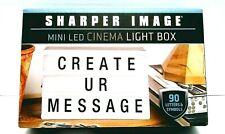 Sharper Image Mini Led Cinema Light Box 90 letters & symbols new