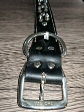 Leather spiked dog collar large