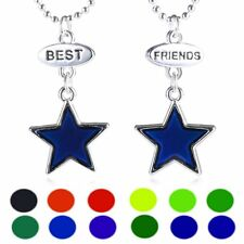 Best Friends BBF Star 2strds Thermo Mood Changing Color Pendant Choker Necklace