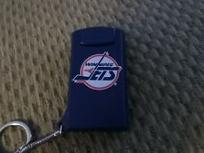 VINTAGE NHL WINNIPEG JETS FLASHLIGHT KEYCHAIN,NEW OLD STOCK