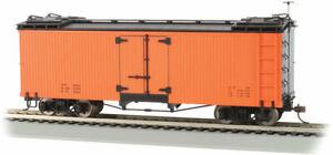 Bachmann - Wood Reefer - Ready to Run -- Data Only (orange, black) - On30